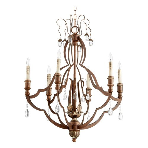 Quorum Lighting Quorum Lighting Venice Vintage Copper Chandelier 644-6-39