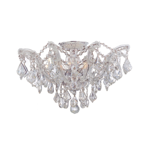 Crystorama Lighting Crystal Semi-Flushmount Light in Polished Chrome Finish 4437-CH-CL-MWP