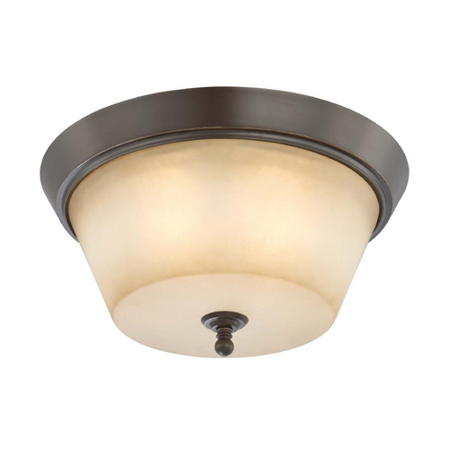 Nuvo Lighting Modern Flushmount Light with Beige / Cream Glass in Vintage Bronze Finish 60/4173