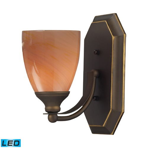 Elk Lighting Elk Lighting Bath and Spa Aged Bronze LED Sconce 570-1B-SY-LED