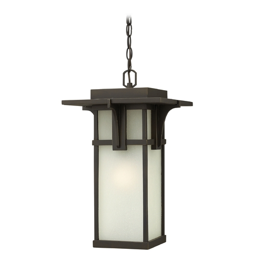 Hinkley Lighting Outdoor Hanging Light with White Glass in Oil Rubbed Bronze Finish 2232OZ-GU24
