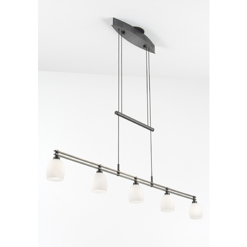 Holtkoetter Lighting Holtkoetter Modern Low Voltage Pendant Light with White Glass in Hand-Brushed Old Bronze Finish 5515 HBOB G5001