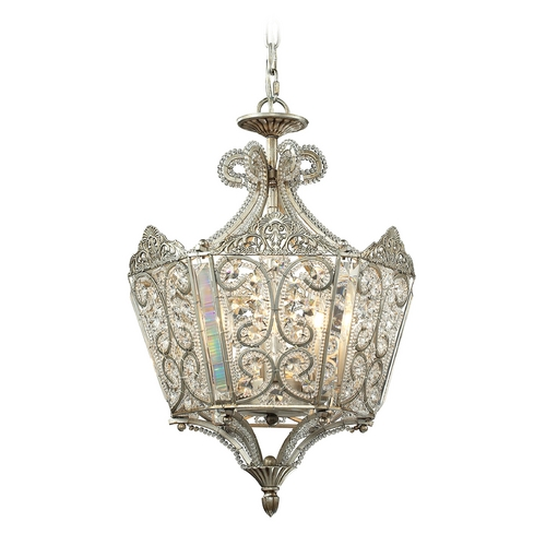 Elk Lighting Pendant Light in Aged Silver Finish 11710/6