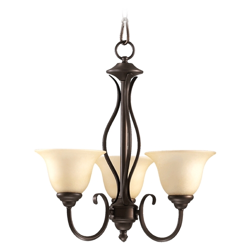 Quorum Lighting Quorum Lighting Spencer Mystic Silver Mini-Chandelier 6010-3-58