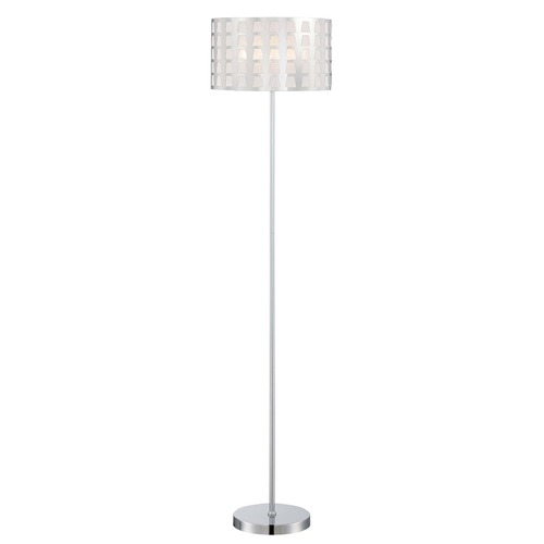 Lite Source Lighting Lite Source Marciano Chrome Floor Lamp with Drum Shade LS-82600