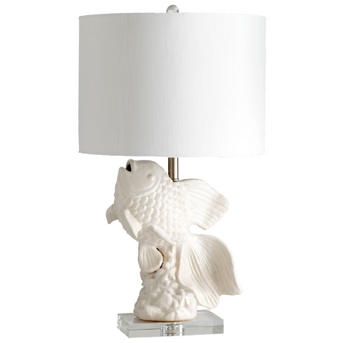 Cyan Design Cyan Design Seaside White & Cream Glaze Table Lamp with Drum Shade 04828