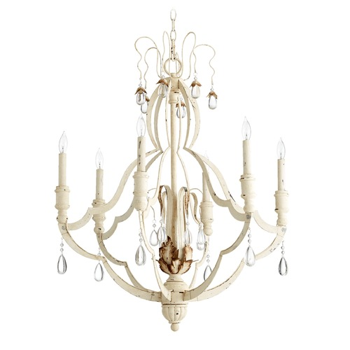 Quorum Lighting Quorum Lighting Venice Persian White Chandelier 644-6-70