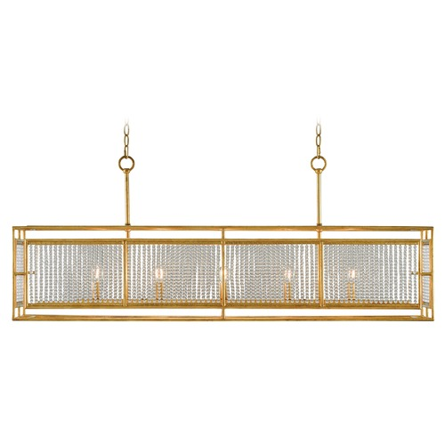 Currey and Company Lighting Currey and Company Adelle Chinoisgold Leaf Island Light 9000-0001