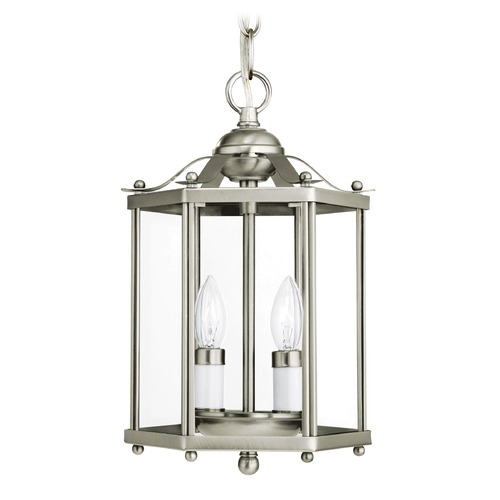 Sea Gull Lighting Sea Gull Lighting Bretton Brushed Nickel LED Pendant Light with Hexagon Shade 5232EN-962