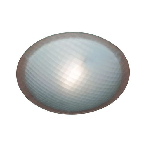 PLC Lighting Modern Flushmount Light with White Glass in Natural Iron Finish 22219 IR