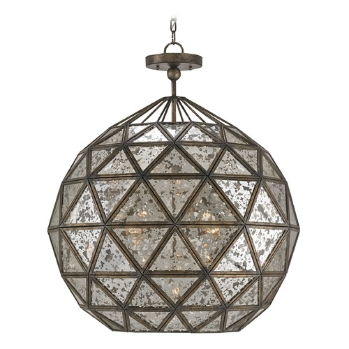 Currey and Company Lighting Buckminster Pyrite Bronze Chandelier 9436