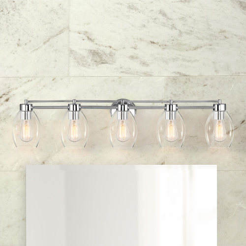 Design Classics Lighting Chrome Bathroom Light 706-26 GL1034-CLR