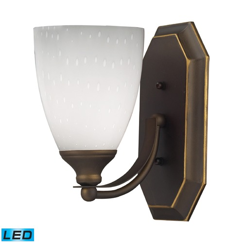 Elk Lighting Elk Lighting Bath and Spa Aged Bronze LED Sconce 570-1B-WH-LED