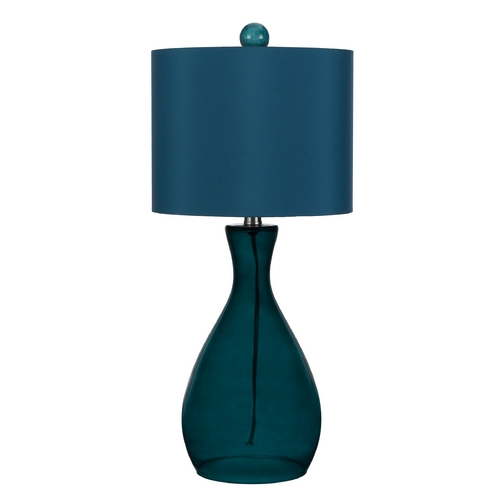 AF Lighting Table Lamp with Blue Shade in Sea Blue Finish 8518-TL