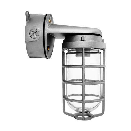 RAB Electric Lighting Outdoor Wall Light with Clear Glass in Silver Finish - 150W VXBR100DGS-3/4