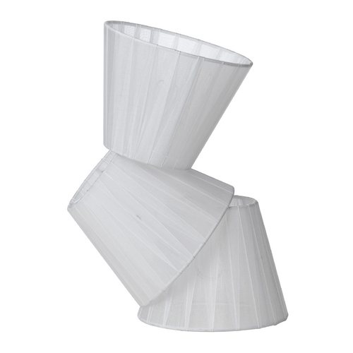 AF Lighting White Empire Lamp Shade with Assembly 8527-3S