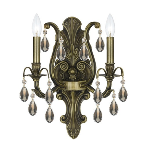Crystorama Lighting Crystorama Lighting Dawson Antique Brass Sconce 5563-AB-GTS