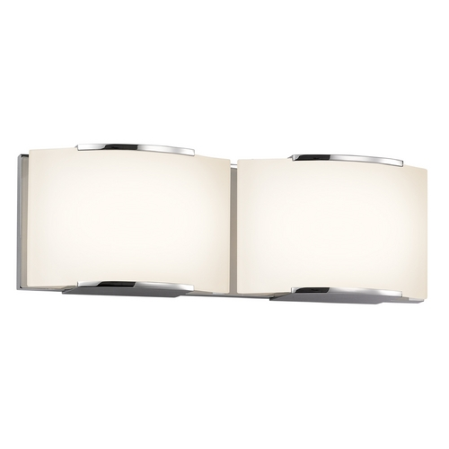 Sonneman Lighting Sonneman Lighting Wave Polished Chrome LED Bathroom Light 3872.01LED