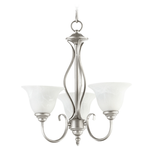Quorum Lighting Quorum Lighting Spencer Classic Nickel Mini-Chandelier 6010-3-64