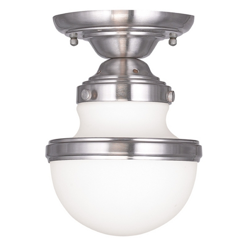 Livex Lighting Livex Lighting Oldwick Brushed Nickel Semi-Flushmount Light 5720-91