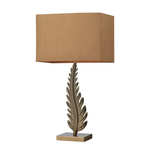 Dimond Lighting Dimond Lighting Aged Brass Table Lamp with Rectangle Shade D2684