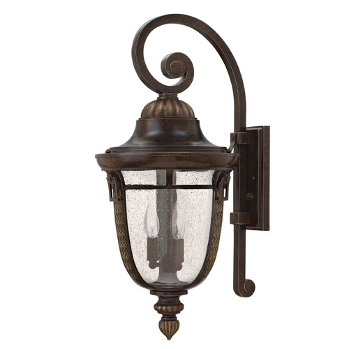 Hinkley Lighting Seeded Glass Outdoor Wall Light Bronze Hinkley Lighting 2905RB-GU24