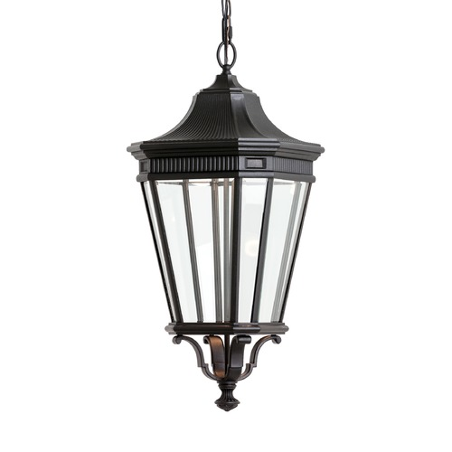 Feiss Lighting Feiss Lighting Cotswold Lane Black LED Outdoor Hanging Light OL5412BK-LED