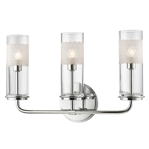 Hudson Valley Lighting Wentworth ADA 3 Light Bathroom Light - Polished Nickel 3903-PN