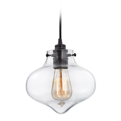 Elk Lighting Elk Lighting Kelsey Oil Rubbed Bronze Mini-Pendant Light with Bowl / Dome Shade 31954/1