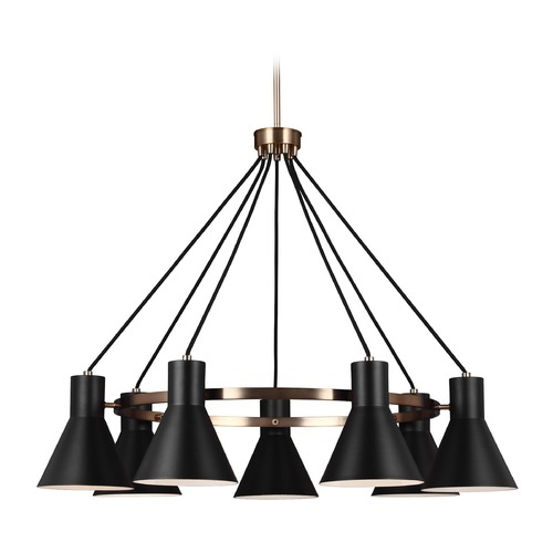 Sea Gull Lighting Mid-Century Modern Chandelier Bronze Towner by Sea Gull Lighting 3141307-848