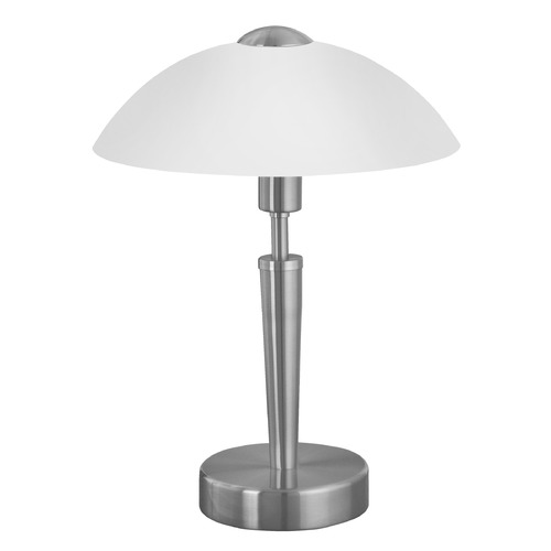 Eglo Lighting Eglo Solo 1 Matte Nickel Table Lamp with Bowl / Dome Shade 85104A
