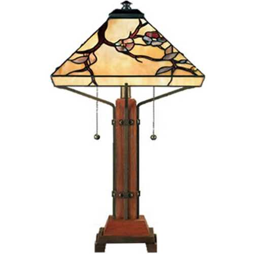Quoizel Lighting Table Lamp with Art Glass in Multi Finish TF6898M