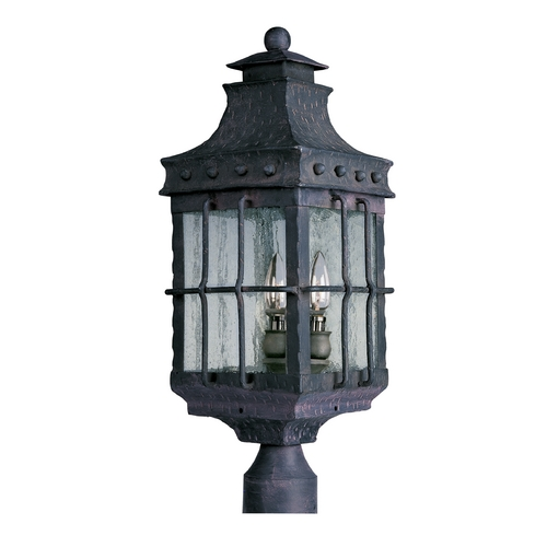 Maxim Lighting Post Light with Clear Glass in Country Forge Finish 30080CDCF