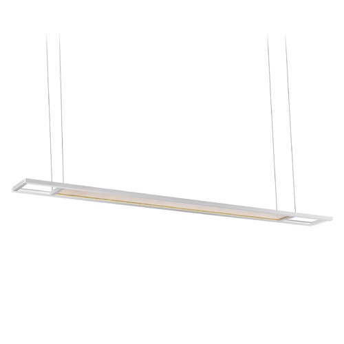 Kuzco Lighting Kuzco Lighting Grid Brushed Nickel LED Island Light with Rectangle Shade LP20460-BN