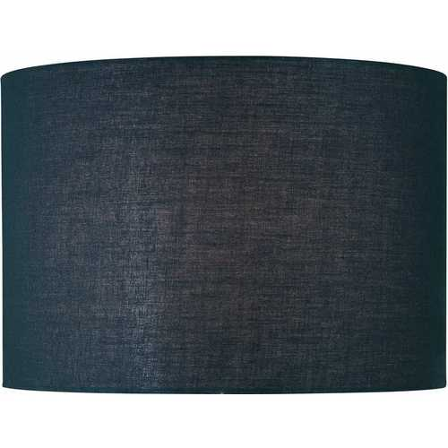 Lite Source Lighting Black Drum Lamp Shade with Spider Assembly CH1152-16BLK