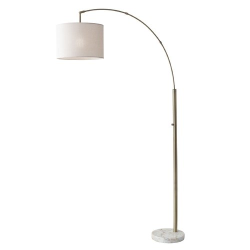 Adesso Home Lighting Adesso Home Bowery Antique Brass Arc Lamp with Drum Shade 4249-21