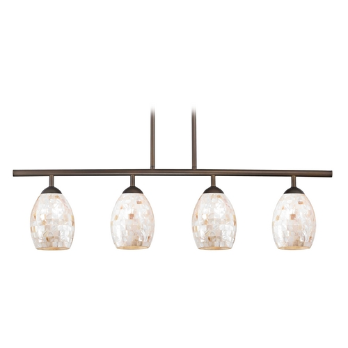 Design Classics Lighting Island Light with Beige / Cream Glass in Neuvelle Bronze Finish 718-220 GL1034