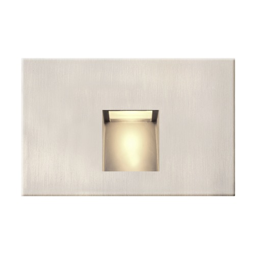 Recesso Lighting by Dolan Designs LED Horizontal Recessed Step Light Satin Nickel Finish STEPLT-H-SN