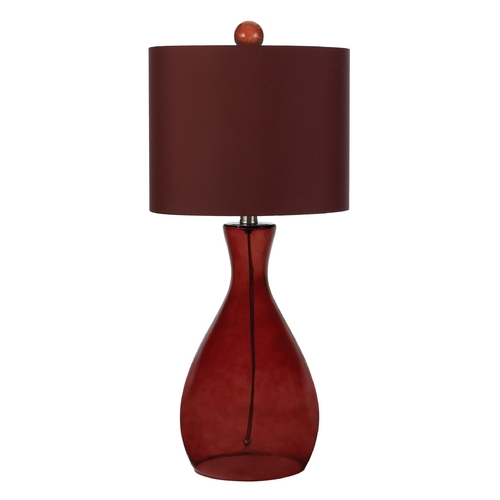 AF Lighting Table Lamp with Red Shade in Red Finish 8519-TL
