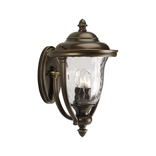 Progress Lighting Progress Oil Rubbed Bronze Outdoor Wall Light with White Glass P5923-108