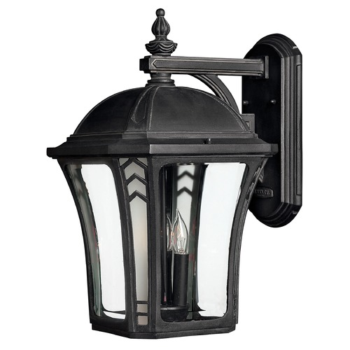 Hinkley Lighting LED Outdoor Wall Light with Clear Glass in Museum Black Finish 1335MB-LED