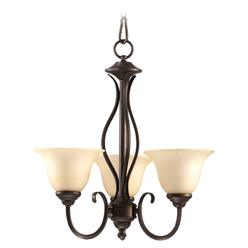 Quorum Lighting Quorum Lighting Spencer Oiled Bronze Mini-Chandelier 6010-3-86