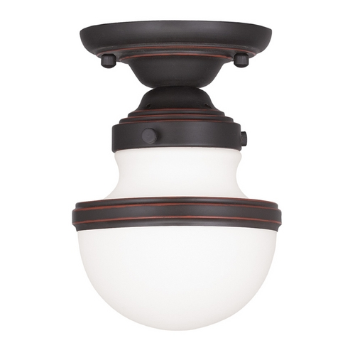 Livex Lighting Livex Lighting Oldwick Olde Bronze Semi-Flushmount Light 5720-67
