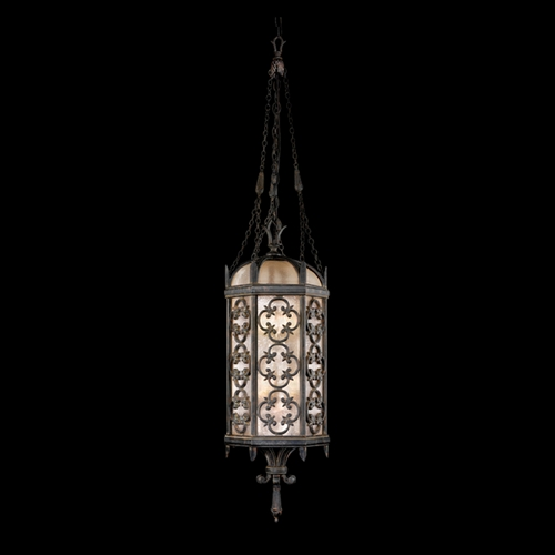 Fine Art Lamps Fine Art Lamps Costa Del Sol Marbella Wrought Iron Outdoor Hanging Light 325282ST