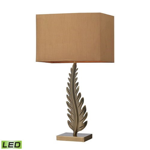 Dimond Lighting Dimond Lighting Aged Brass LED Table Lamp with Rectangle Shade D2684-LED