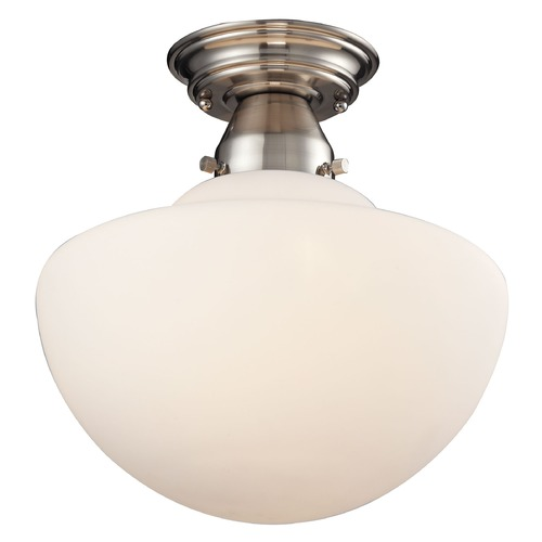 Elk Lighting Elk Lighting Schoolhouse Flushes Satin Nickel Semi-Flushmount Light 69045/1