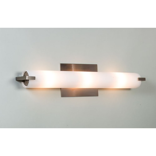 Illuminating Experiences Elf Plus Satin Nickel Bathroom Light - Vertical or Horizontal Mounting ELFPLUS2SN