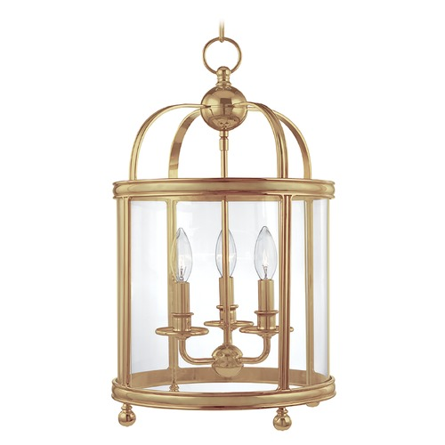 Hudson Valley Lighting Hudson Valley Lighting Larchmont Aged Brass Pendant Light 7812-AGB