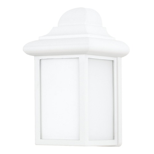 Sea Gull Lighting Sea Gull Mullberry Hill White LED Outdoor Wall Light 898891S-15