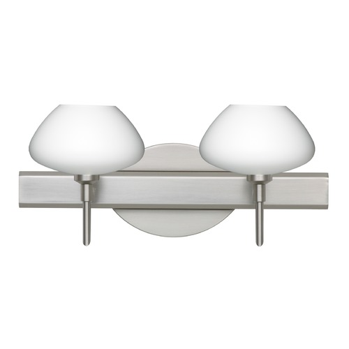 Besa Lighting Besa Lighting Peri Satin Nickel LED Bathroom Light 2SW-541007-LED-SN